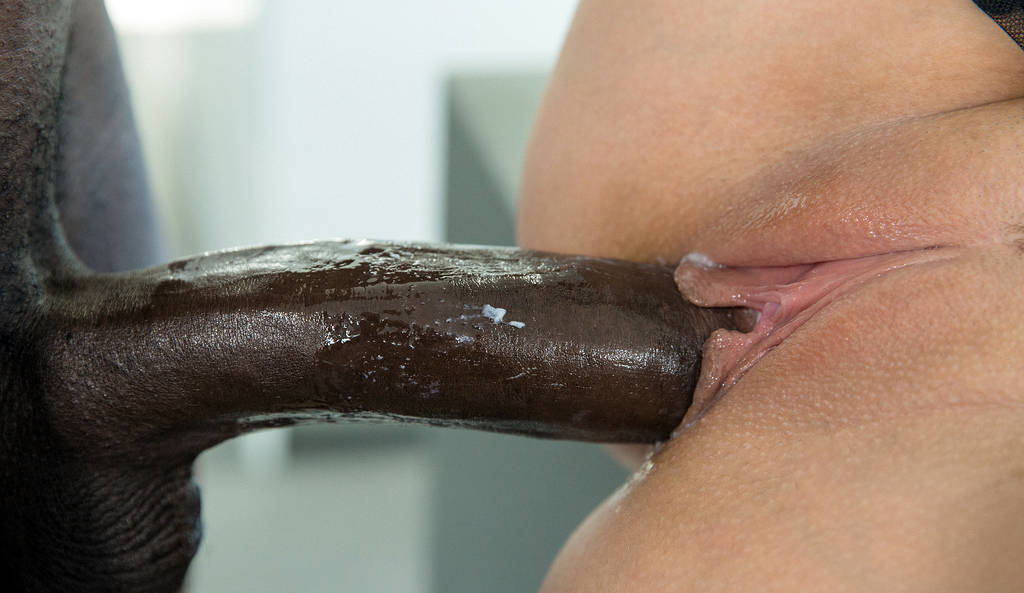 Real virgin and big black cock